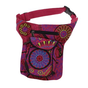 Goa Shoulder / Fanny Pack Belt Pouch Belly Belt Hippie Psy – Bild 3