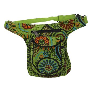Goa Shoulder / Fanny Pack Belt Pouch Belly Belt Hippie Psy – Bild 1