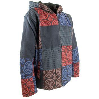 """Extravagant Fleece Jacket """"Buddha"""" in a Unique Design Goa Psy Hippie – Bild 1"""