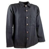 KUNST UND MAGIE Herren Hemd unifarben Fischerhemd Freizeithemd 001