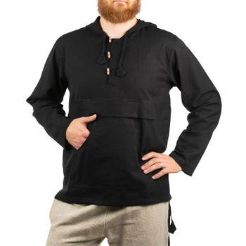 KUNST UND MAGIE Herren bunt alternativ Hoodie Fischerhemd Kapuze Kängurutasche – Bild 1
