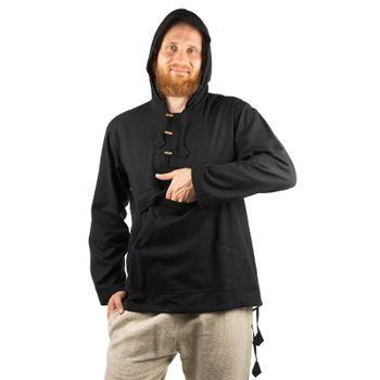 KUNST UND MAGIE Herren bunt alternativ Hoodie Fischerhemd Kapuze Kängurutasche – Bild 2