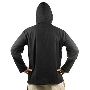 KUNST UND MAGIE Herren bunt alternativ Hoodie Fischerhemd Kapuze Kängurutasche – Bild 5