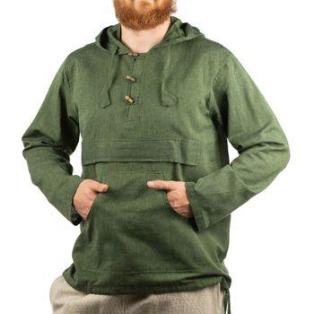 KUNST UND MAGIE Herren bunt alternativ Hoodie Fischerhemd Kapuze Kängurutasche – Bild 10