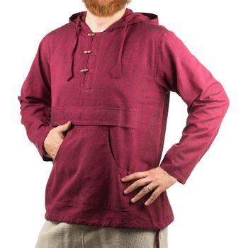 KUNST UND MAGIE Herren bunt alternativ Hoodie Fischerhemd Kapuze Kängurutasche – Bild 14