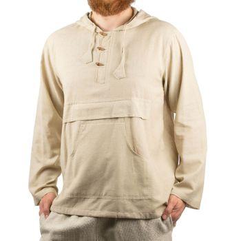 KUNST UND MAGIE Herren bunt alternativ Hoodie Fischerhemd Kapuze Kängurutasche – Bild 6