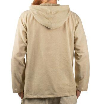 KUNST UND MAGIE Herren bunt alternativ Hoodie Fischerhemd Kapuze Kängurutasche – Bild 9