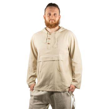 KUNST UND MAGIE Herren bunt alternativ Hoodie Fischerhemd Kapuze Kängurutasche – Bild 7