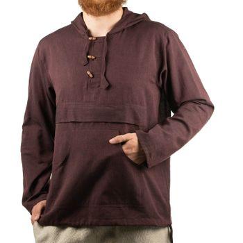 KUNST UND MAGIE Herren bunt alternativ Hoodie Fischerhemd Kapuze Kängurutasche – Bild 19