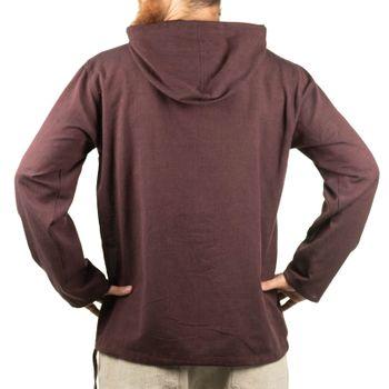 KUNST UND MAGIE Herren bunt alternativ Hoodie Fischerhemd Kapuze Kängurutasche – Bild 21