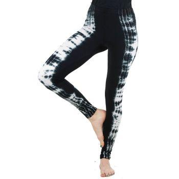 Kunst und Magie Damen Yoga Leggings Atmungsaktive Tie Dye Batik Yogahose – Bild 25
