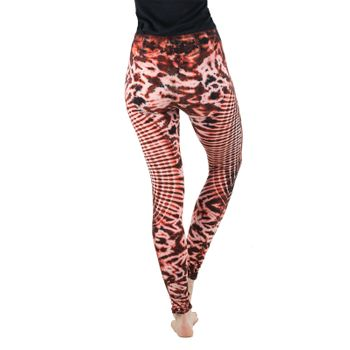 Kunst und Magie Damen Yoga Leggings Atmungsaktive Tie Dye Batik Yogahose – Bild 15