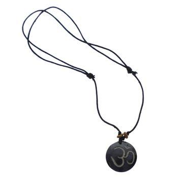 Om Manie Padme Hum Amulett schwarz ca. 3,5 cm – Bild 2