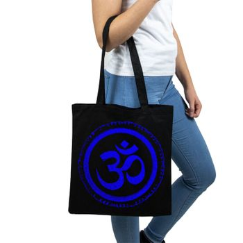 OM gym bag Kunst und Magie printed cotton bag 12L Gymbag with cords – Bild 20