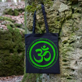 OM gym bag Kunst und Magie printed cotton bag 12L Gymbag with cords – Bild 10