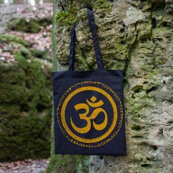 OM gym bag Kunst und Magie printed cotton bag 12L Gymbag with cords – Bild 16