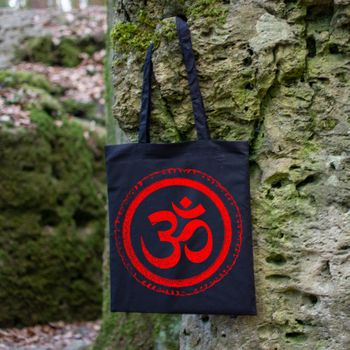 OM gym bag Kunst und Magie printed cotton bag 12L Gymbag with cords – Bild 14