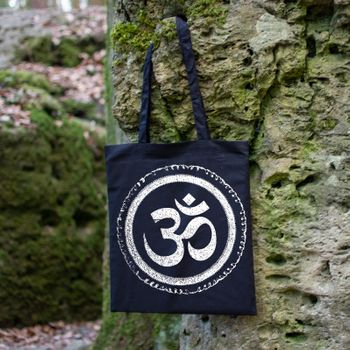 OM gym bag Kunst und Magie printed cotton bag 12L Gymbag with cords – Bild 2