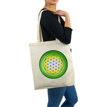 OM gym bag Kunst und Magie printed cotton bag 12L Gymbag with cords – Bild 4