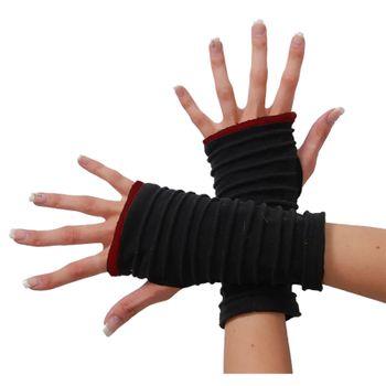 Kunst und Magie Damen Armstulpen Fleece Stulpen Handwärmer Handschuhe Hippie Gothic Boho  – Bild 1