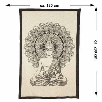 Kunst und Magie Wall Hanging The Mandala Buddha  79 x 53 inches – Bild 5
