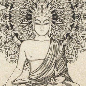 Kunst und Magie Wall Hanging The Mandala Buddha  79 x 53 inches – Bild 4