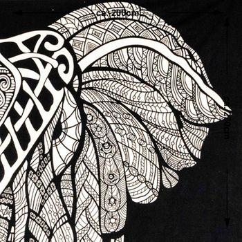 Kunst und Magie Tagesdecke Wandbehang Deko Tuch Elefant UV Aktiv  ca. 195  x 138 cm  – Bild 4