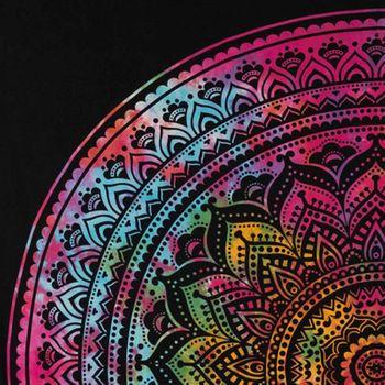 Kunst und Magie Tagesdecke Wandbehang Bunt Deko Tuch Mandala Bunt ca. 200 x 230cm  – Bild 5