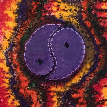 Kunst und Magie Tagesdecke Wandbehang Buntes Deko Tuch Ying & Yang Batik ca135x200cm  – Bild 4
