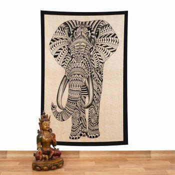Kunst und Magie Tagesdecke Wandbehang Deko Tuch Elefant UV Aktiv  ca. 200 x 135 cm  – Bild 3