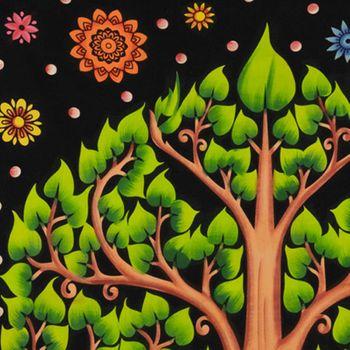 Kunst und Magie Tagesdecke Wandbehang Deko Chakra BuddhaLebensbaum Meditation UV Aktiv  ca. 200 x 135 cm  – Bild 7