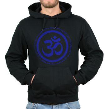 Kunst und Magie Herren Hoodie Kapuzenpullover Sweatshirt OM Aum Kapu Hippie Goa – Bild 5