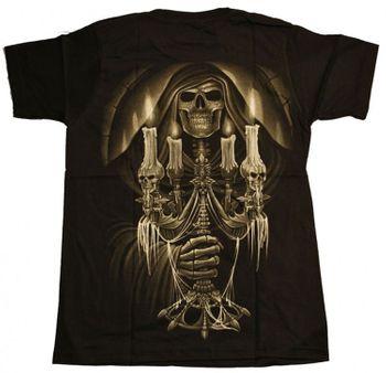 Metal T-Shirt Totendiener Kerzenständer Grim Reaper Goth – Bild 2