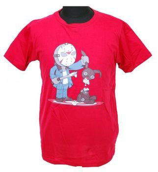 Horror Parody Fun T-Shirt Jason Freitag Red