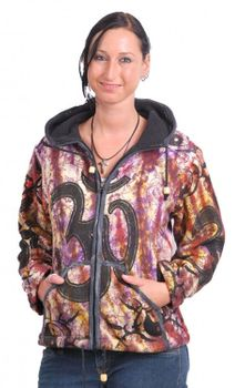 Goa Cardigan Om Jacket Zip Hooded Hippy Psy Yin & Yang – Bild 1