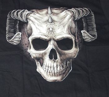 Gothic T-Shirt with a Double Demon Skull – Bild 2