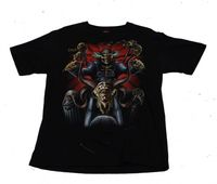 Biker T-Shirt Ride or Die Skull Gothic Metal Death schwarz 001