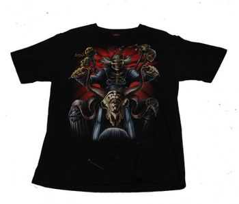 Biker T-Shirt Ride or Die Skull Gothic Metal Death schwarz