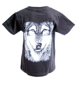 "Kids T-Shirt Wolf ""Wolf's Head"" Animal Kids – Bild 2"