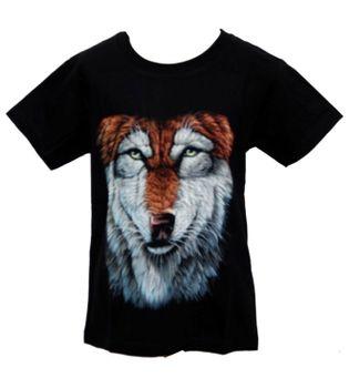 """Kinder T-Shirt Wolf """"Wolfskopf"""" Tiermotiv Kids – Bild 1"""
