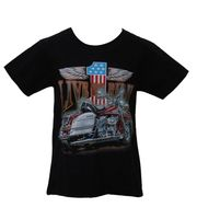 "Kinder Biker T-Shirt ""Live to Ride"" Easy Rider Kids 001"