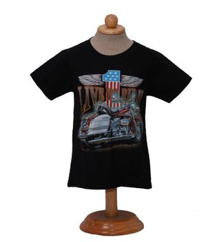 "Kinder Biker T-Shirt ""Live to Ride"" Easy Rider Kids – Bild 3"