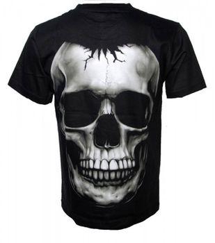 Biker T-Shirt Skull Totenkopf Schädel Gothic Metal Death schwarz – Bild 2