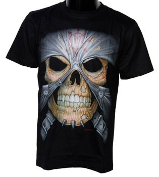 Biker T-Shirt Skull Totenkopf Schädel Gothic Metal Death – Bild 1