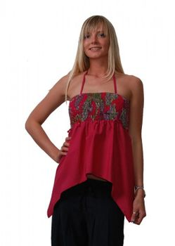 Edgy Psy Goa Strap Top Hippie Beach Red – Bild 1