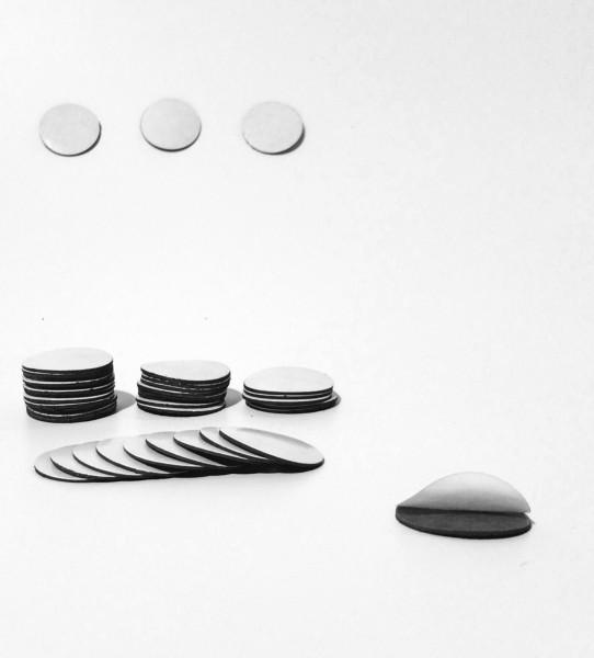 Magnet Punkt - Takki Rund selbstklebend 25mm Ø x 0,9mm
