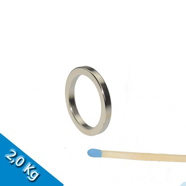 Ringmagnet Ø 27,0 x 21,0 x 3,0 mm N40 Nickel