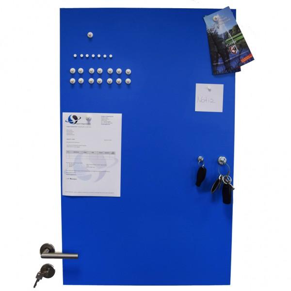 Eisenfolie Ferrofolie selbstklebend Blau Matt 620 x 1000 x 0,8mm Meterware