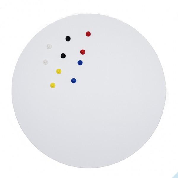 Eisenfolie Ferrofolie selbstklebend Weiß Matt Ø 570mm x 0,75mm
