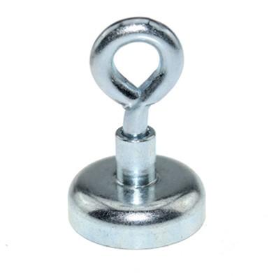 Ösenmagnet Ø 10 mm NEODYM - Zink - hält 2 kg